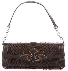 Judith Leiber Embellished Python Shoulder Bag