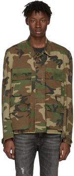 R 13 Green Camo Misfit Field Jacket