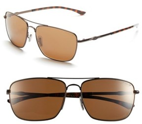 Smith Women's 'Nomad' 59Mm Polarized Sunglasses - Matte Brown/ Polar Brown