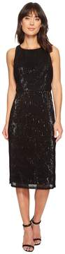 Adrianna Papell Sleeveless Stretch Baby Sequin Middle Cocktail Dress Women's Dress