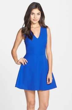 Felicity & Coco Women's Bianca Back Cutout Fit & Flare Dress