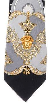 Gianni Versace Polka Dot Medusa Silk Tie
