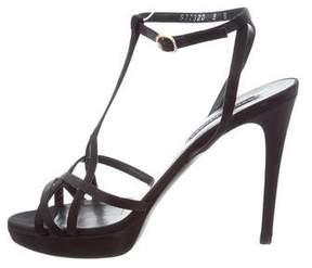 Ralph Lauren Purple Label Satin Multistrap Sandals