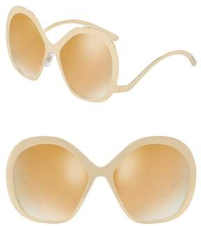 Dolce & Gabbana 57mm Oversized Metal Sunglasses