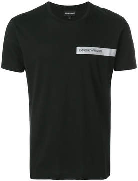 Emporio Armani logo patch T-shirt