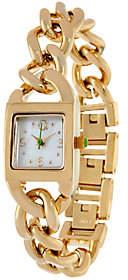 C. Wonder Mother-of-Pearl Dial Curb Link Bracelet Watch