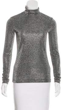 Rodarte Metallic Turtleneck Top