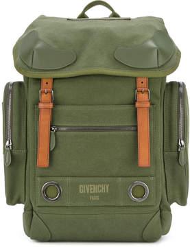 Givenchy logo print military backpack