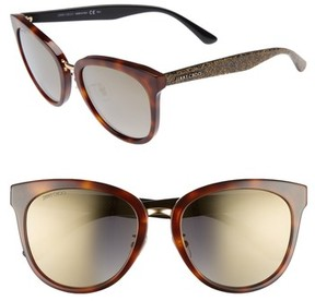 Jimmy Choo Women's Cadefs 55Mm Sunglasses - Havana Glitter