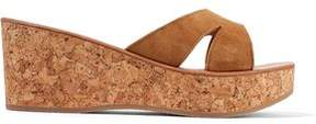 K Jacques St Tropez K.jacques St. Tropez Kobe Suede And Cork Wedge Sandals