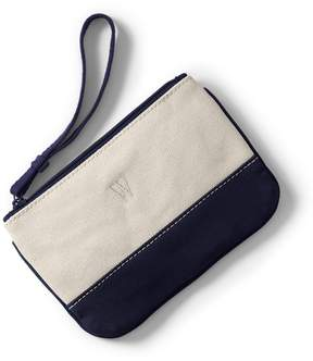 Lands' End Lands'end Small Solid Canvas Pouch