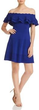 Eliza J Off-the-Shoulder Ruffle Dress