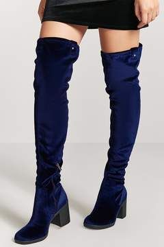 Forever 21 Velvet Thigh High Boots