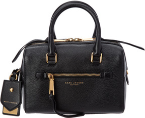 Marc Jacobs Recruit Small Leather Bauletto - BLACK - STYLE