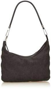 Gucci Pre-owned: Web Denim Shoulder Bag. - GRAY X DARK GRAY X MULTI - STYLE