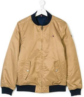 Tommy Hilfiger Junior reversible bomber jacket