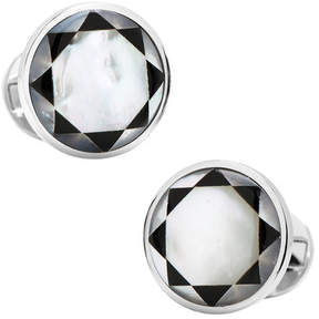 Ox & Bull Trading Co. Men's Sterling Silver Mother of Pearl Mosaic Cufflinks