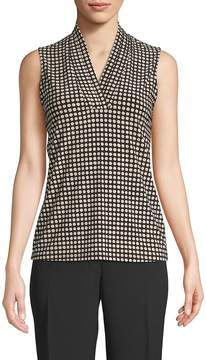 Anne Klein Women's Dot-Print Sleeveless Top