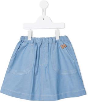Familiar bow appliqué skirt