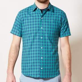 Blade + Blue Green & Blue Buffalo Check Short Sleeve Shirt - ANDY