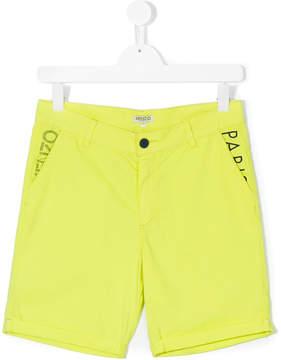 Kenzo logo print casual shorts