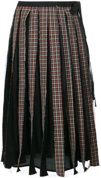 Antonio Marras sheer checked pleat skirt