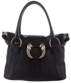 Bvlgari Leoni Leather Shoulder Bag