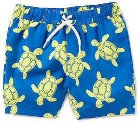 Little Me Baby Boys 6-24 Months Turtle-Print Swim Trunks