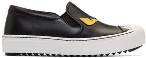 Fendi Black Bag Bugs Slip-On Sneakers