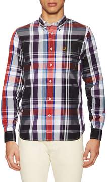 Fred Perry Men's Bold Checkered Sportshirt