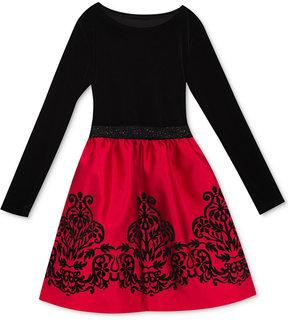 Rare Editions Velvet Flocked Party Dress, Toddler Girls (2T-5T), Created for Macy's