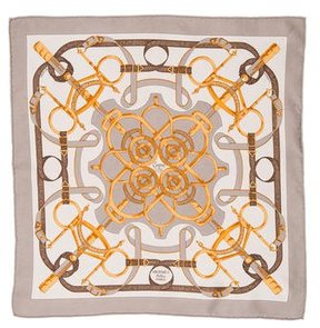 Hermes Eperon D'Or Silk Pocket Square
