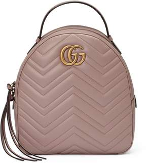 Gucci GG Marmont quilted leather backpack - BEIGE QUILTED LEATHER - STYLE