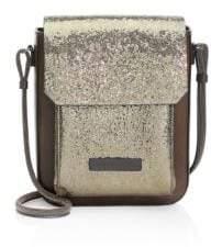 Brunello Cucinelli Broken Glass Leather Crossbody Bag