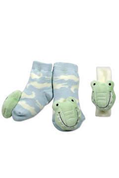 Mud Pie Alligator Sock/Wrist Set