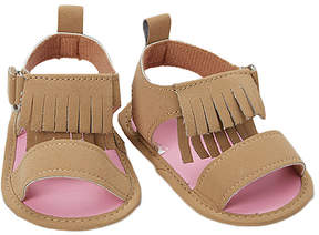 Luvable Friends Tan Fringe Sandal - Girls