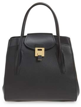 Michael Kors Large Bancroft Leather Top Handle Satchel - Black