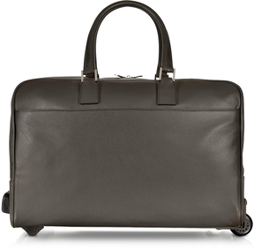 Giorgio Fedon 1919 Dark Brown Travel Leather Rolling Duffle