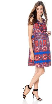 A Pea in the Pod Button Front Maternity Dress