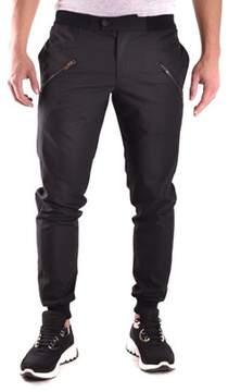 Les Hommes Men's Black Polyester Pants.
