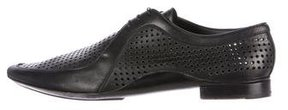 Prada Perforated Leather Derby Shoes
