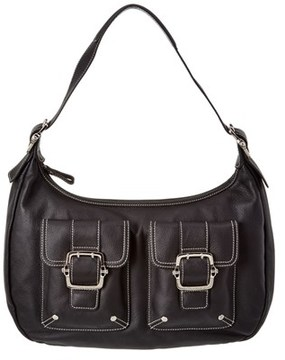Longchamp Leather Satchel. - BLACK - STYLE