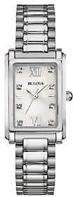 Bulova Women's Stainless Steel Mother-of-PearlBracelet Watch