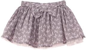 Chicco Girls' Grey Bow Skirt