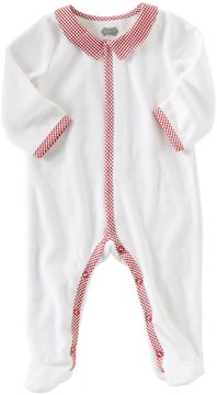Mud Pie Baby Boys Newborn-9 Months Velour Footed Coverall