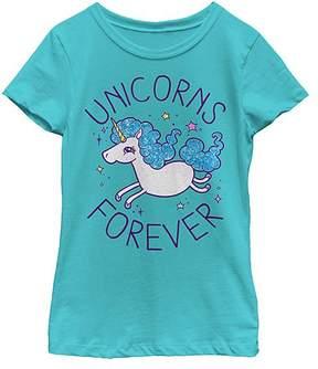 Fifth Sun Tahiti Blue 'Unicorns Forever' Tee - Girls