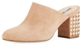 Karl Lagerfeld Paris Serin Chunky-Heel Mule with Stud Detail