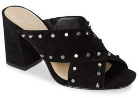 424 Fifth Jade Studded Suede Sandals