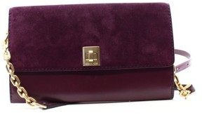 Michael Kors Purple Leather Suede Natalie Wallet On A Chain Purse - PURPLES - STYLE