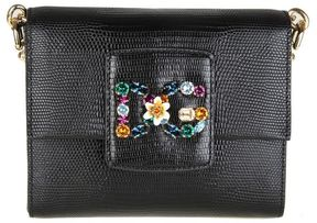 Dolce & Gabbana Mini Bag Cross Body Color Black With Crystal Logo - BLACK - STYLE
